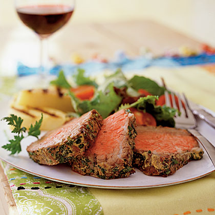 Beef Tenderloin with Mustard and HerbsRecipe