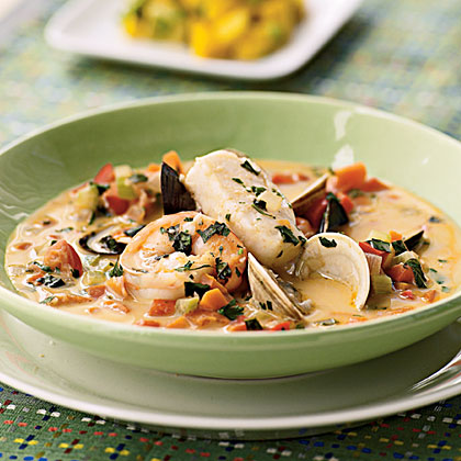 Thai-Coconut Bouillabaisse Recipe | MyRecipes.com