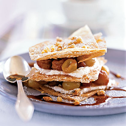 Sautéed Grape Napoleons with Port Reduction Recipe