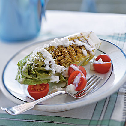 Grilled Romaine with Blue Cheese Dressing Recipe
