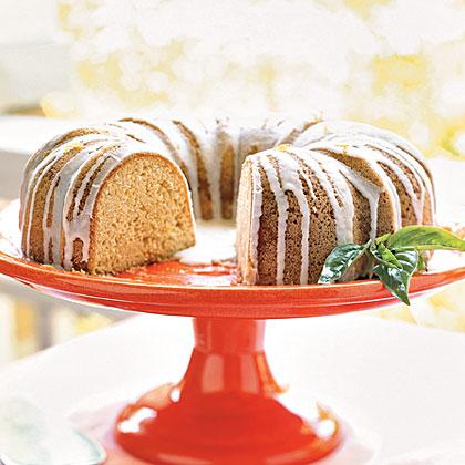 Pound Cake with Lemon-Basil GlazeRecipe