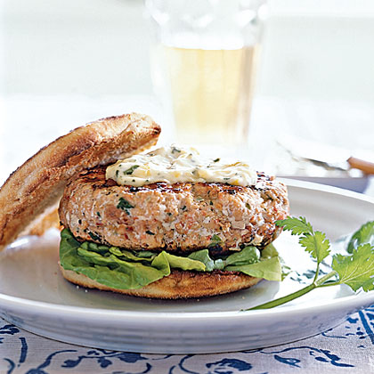 Chipotle Salmon Burgers