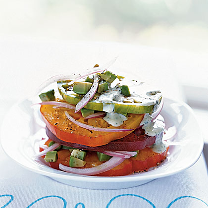 Heirloom Tomato and Avocado StackRecipe