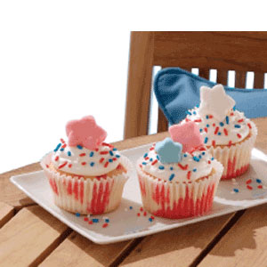 CoolWhip Summer Poke Cupcakes
