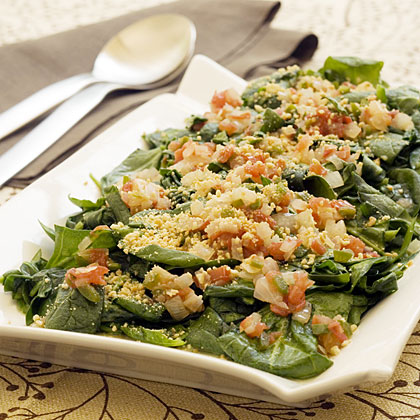 Chili-Peanut Spring Greens
