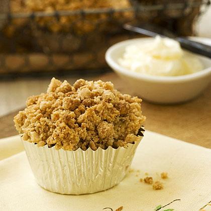 Peanut Streusel Mango Muffins