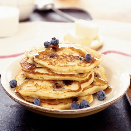 Blueberry Buttermilk Pancakes Recipe