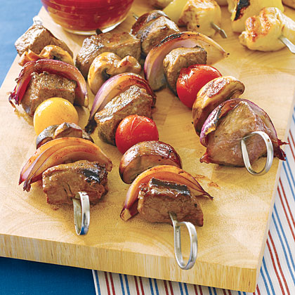 Beef Kebabs with Orange Glaze
