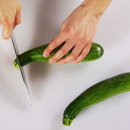 Video: How to Slice ZucchiniUse your chef's knife to slice and chop fresh zucchini.