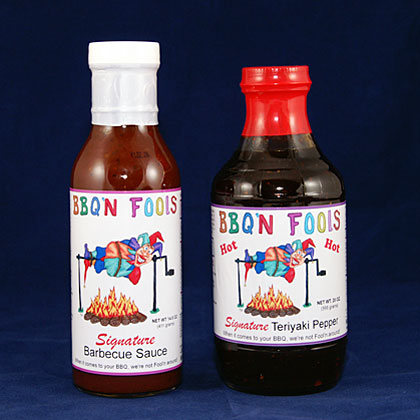 BBQ'N Fools: Signature Barbecue Sauce and Hot Teriyaki Pepper