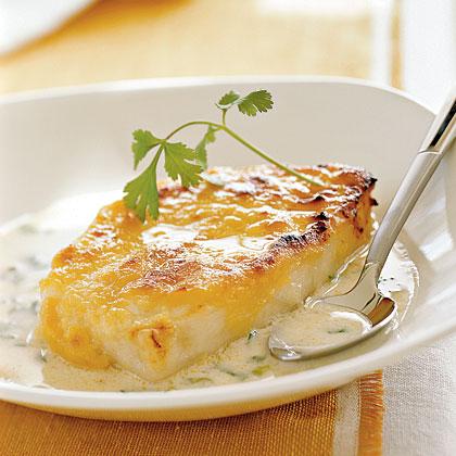 Miso-glazed Black Cod in Coconut Broth Recipe | MyRecipes