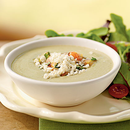 Avocado Soup with Citrus-Shrimp Relish
