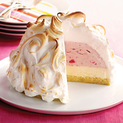 Strawberry-Lemon Baked Alaska Recipe | MyRecipes