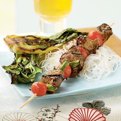 Hoisin-Glazed Beef Kebabs