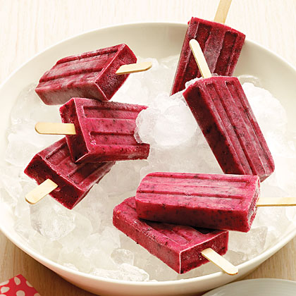 Triple-Berry Popsicles RecipeWe couldn't believe how simple it was to make these frozen treats. You can strain out the seeds if you like, but we love the texture they lend to the popsicles. Feel free to use boysenberries, pitted cherries, or other favorites instead of the combination of fruits here.