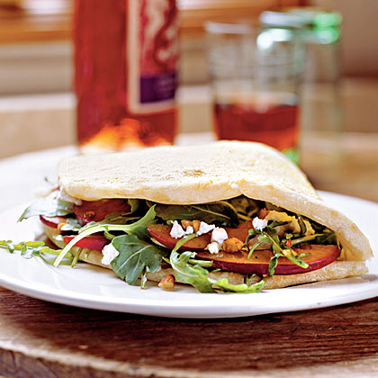 Goat Cheese and Greens Piadine