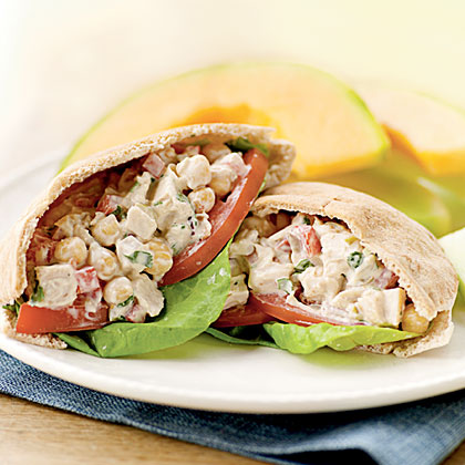 Mediterranean Chicken Salad Pitas Recipe