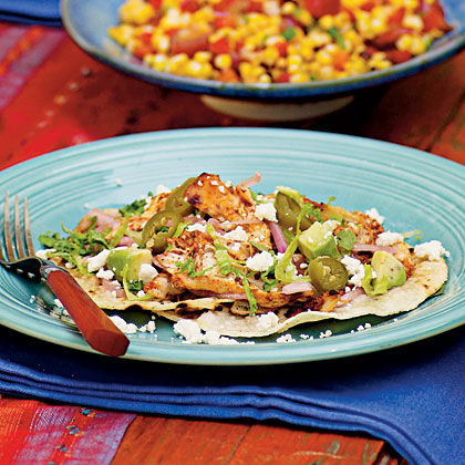 Grilled Chicken Tostadas Recipe