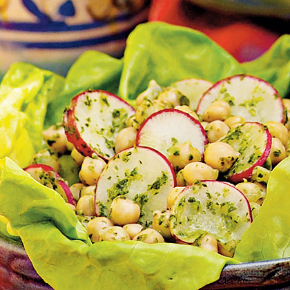 Chickpea Salad with Cilantro Dressing Recipe
