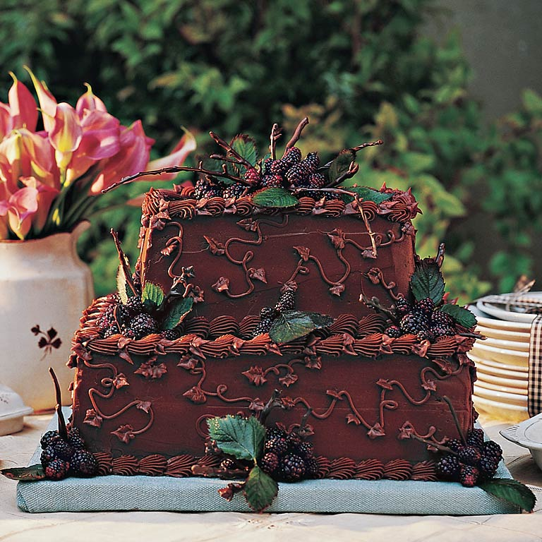 Although groom's cakes are not traditionally served in all regions of the country, guests often appreciate having an alternative to the traditional bride's cake. This version features a nutty pecan filling that guests are sure to love.Recipe: Chocolate Velvet Groom's Cake