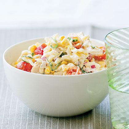 Chicken, Corn, and Tomato Pasta Salad Recipe