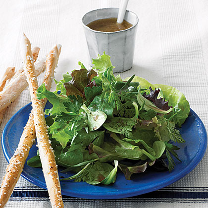 Greens and Herbs Salad with Classic Vinaigrette