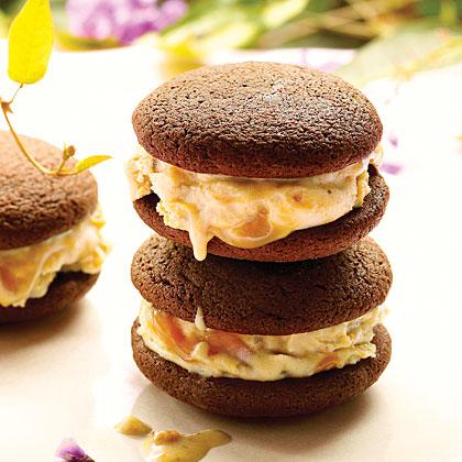 Peanut-Butter Chocolate Ice Cream SandwichesRecipe