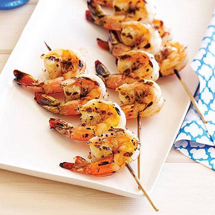 Salt-cured Ouzo Shrimp