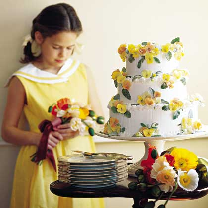 Pansy Wedding Cake