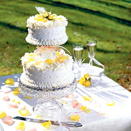 Tiered Poppy Seed Wedding Cake