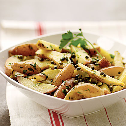 Fingerling Potato Salad with Gremolata Dressing..