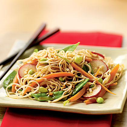 Soba Salad with Soy-Wasabi Vinaigrette Recipe