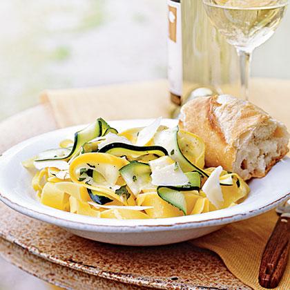 Summer Squash Ribbons with Oregano, Basil, and Lemon