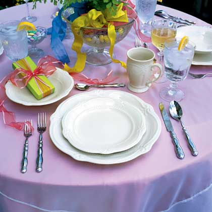 Wedding Registry Place Setting