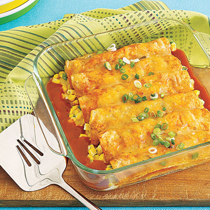 Corn and Cheese Enchiladas