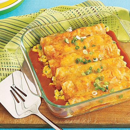 Corn and Cheese Enchiladas
