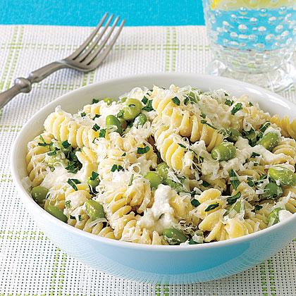 Pasta with Ricotta and Edamame Recipe