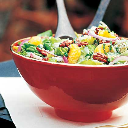 Tossed Green Salad With Crispy Cayenne Nuts Recipe