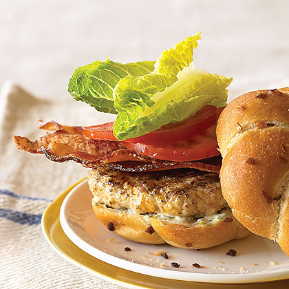 Blt Chicken Burgers Recipe Myrecipes