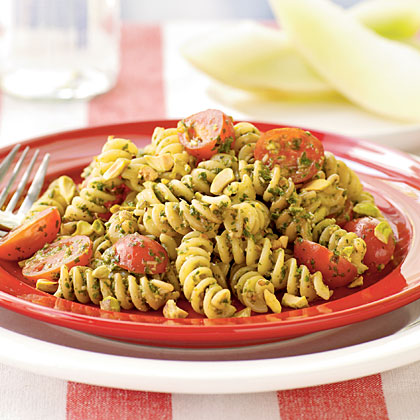 Fusilli with Pistachio Pesto