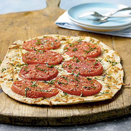 Gorgonzola and Mortgage Lifter Tomato Pizza