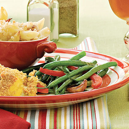 Green Beans With Caramelized Garlic