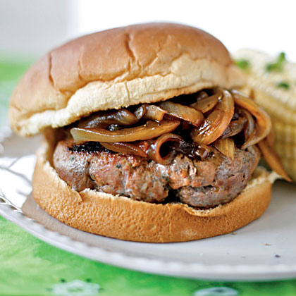 Onion-Smothered Italian Burgers