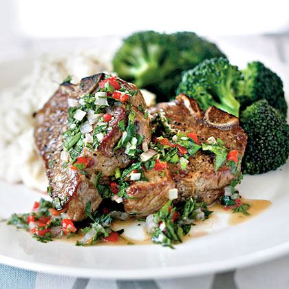 Lamb Chops with Herb Vinaigrette