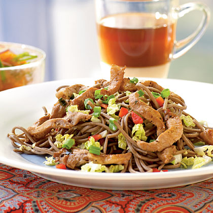 Cold Soba Noodles with Vietnamese Pork Recipe | MyRecipes