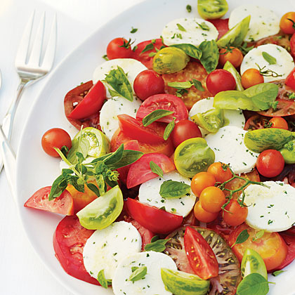 Tomato and Herb Salad with Fresh Chive CheeseRecipe