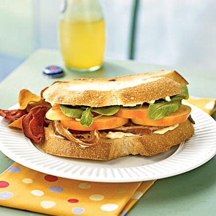 Mr. Stripey Tomato, Arugula, and Pancetta Sandwiches Recipe