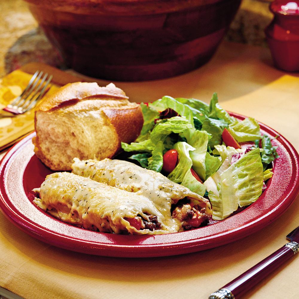 Meaty Cheese Manicotti