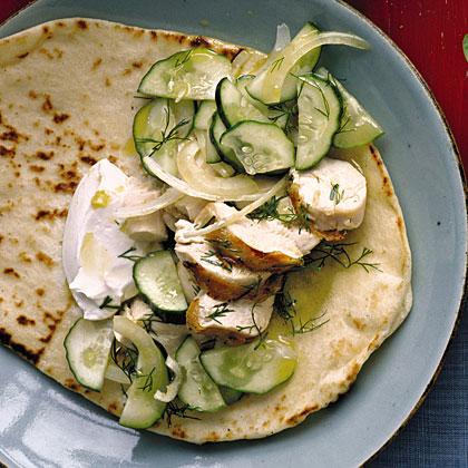 Chicken and Dill Souvlaki