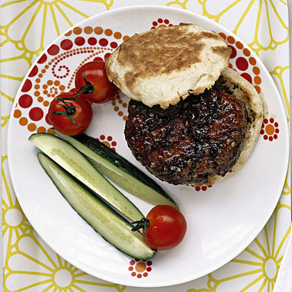 Teriyaki-Glazed Burgers Recipe